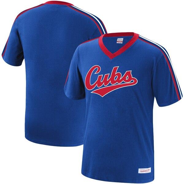 MLB シカゴ・カブス Tシャツ オーバータイム ウィン Vネック ミッチェル&ネス/Mitchell & Ness ロイヤル