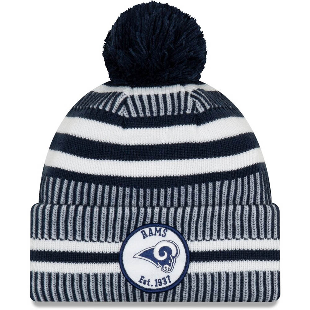 New Era Los Angeles Rams Beanie On Field 2019 Salute to Service Knit