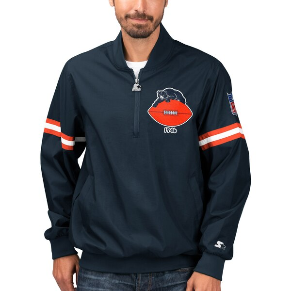 NFL ベアーズ ジャケット/アウター スローバック ジェット ハーフジップ プルオーバー STARTER