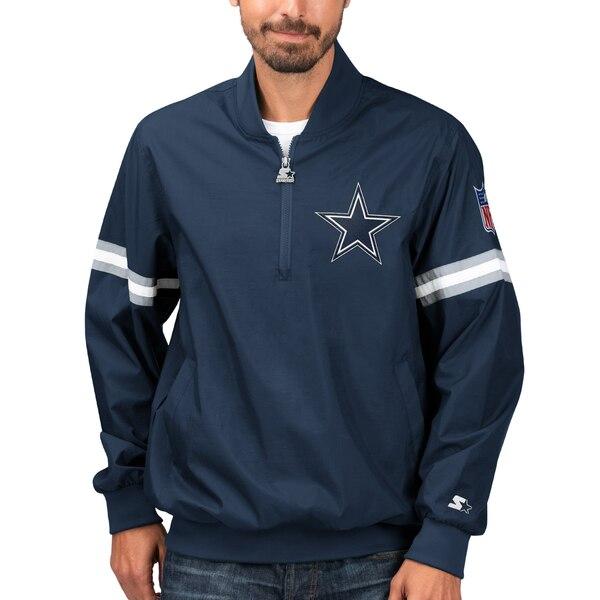 NFL カウボーイズ ジャケット/アウター スローバック ジェット ハーフジップ プルオーバー STARTER