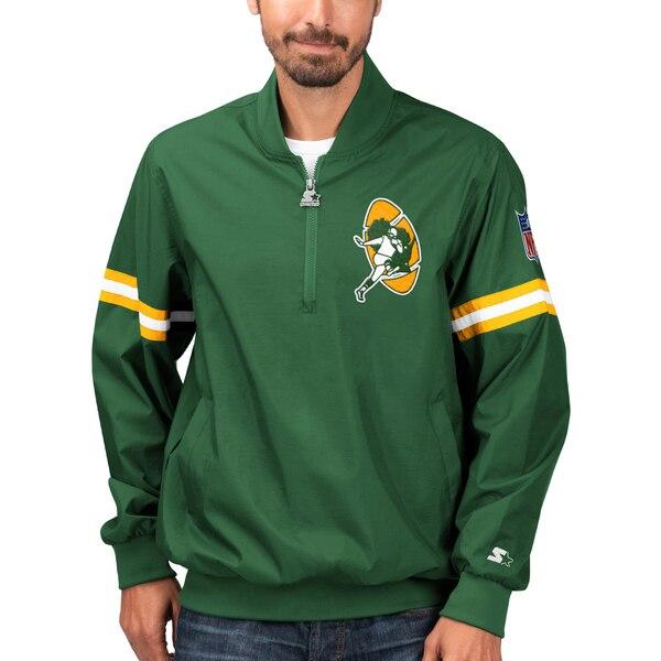 NFL パッカーズ ジャケット/アウター スローバック ジェット ハーフジップ プルオーバー STARTER