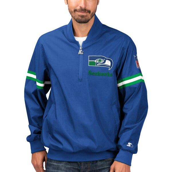 NFL シーホークス ジャケット/アウター スローバック ジェット ハーフジップ プルオーバー STARTER