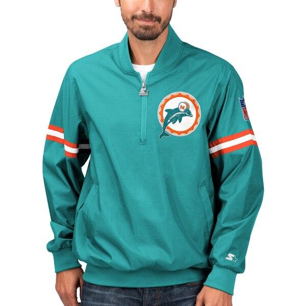 NFL ドルフィンズ ジャケット/アウター スローバック ジェット ハーフジップ プルオーバー STARTER