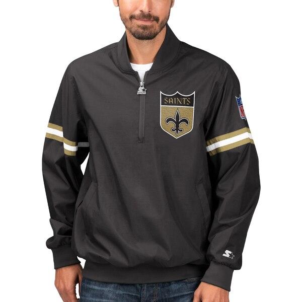 NFL セインツ ジャケット/アウター スローバック ジェット ハーフジップ プルオーバー STARTER