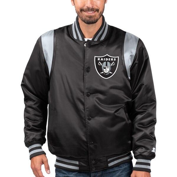 NFL セインツ ジャケット/アウター プライムタイム ツイル サテン バーシティ― フルスナップ STARTER