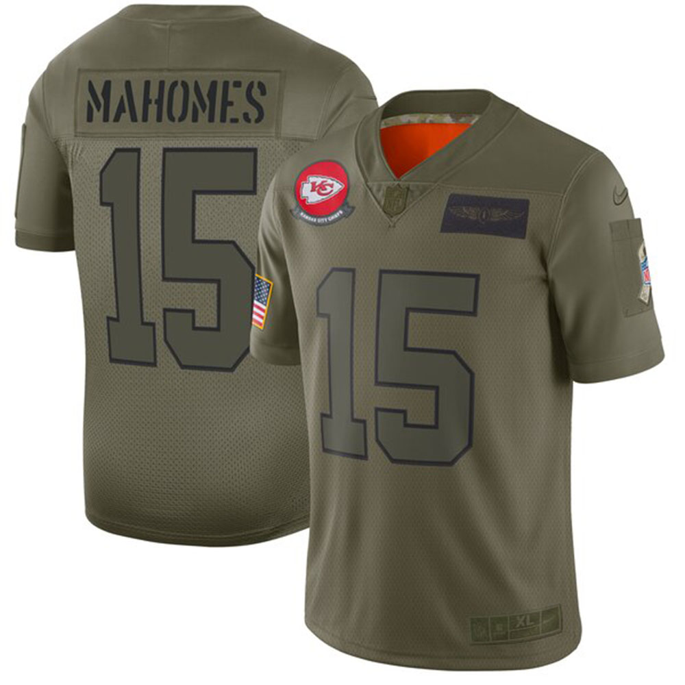 NFL パトリック・マホームズ チーフス ユニフォーム/ジャージ 2019 サルート トゥ サービス リミテッド ナイキ/Nike カモ