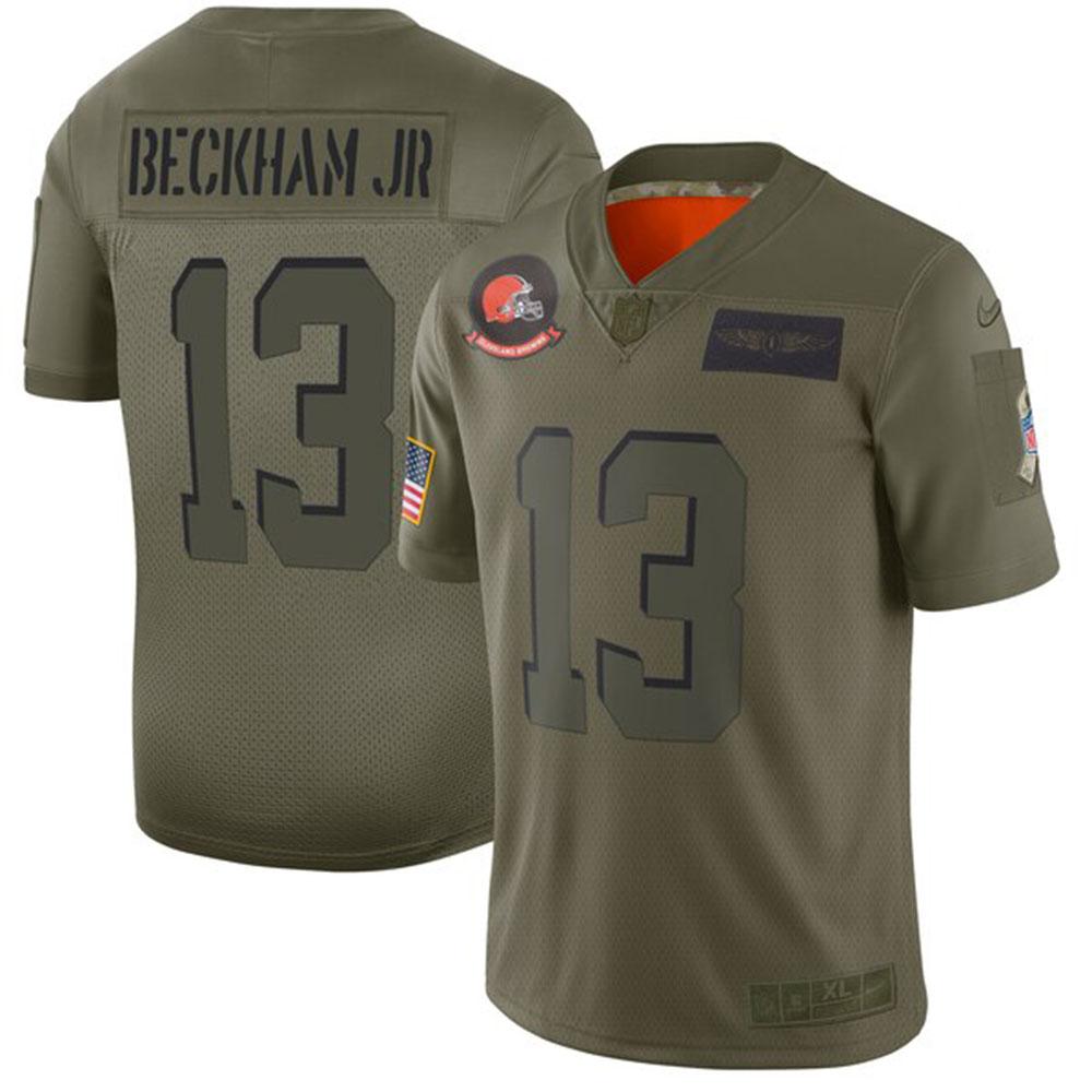 NFL オデル・ベッカム・ジュニア ブラウンズ ユニフォーム/ジャージ 2019 サルート トゥ サービス リミテッド ナイキ/Nike カモ