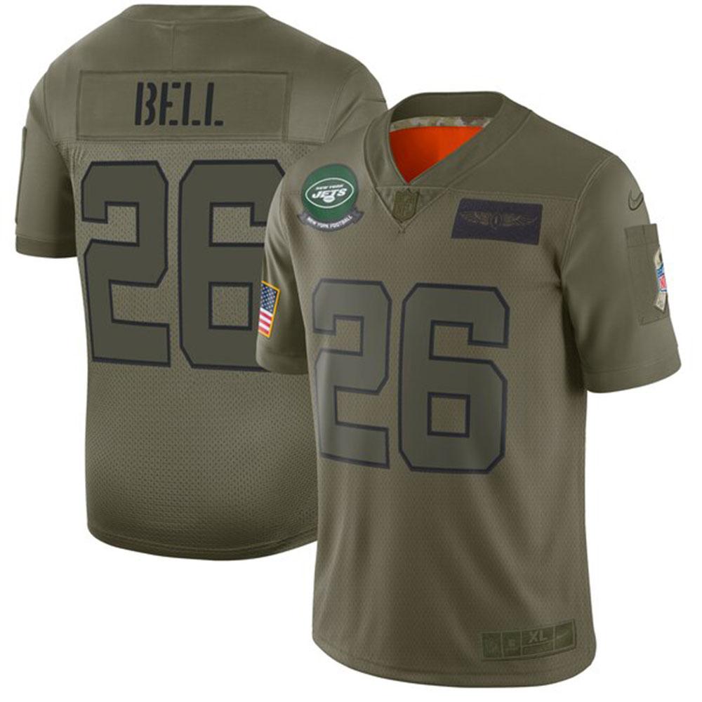 NFL レビオン・ベル ジェッツ ユニフォーム/ジャージ 2019 サルート トゥ サービス リミテッド ナイキ/Nike カモ【1911NFL変更】