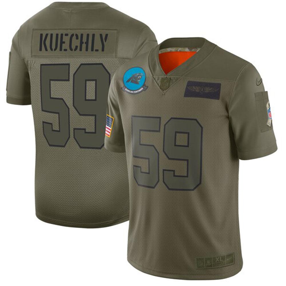 NFL ルーク・キークリー パンサーズ ユニフォーム/ジャージ 2019 サルート トゥ サービス リミテッド ナイキ/Nike カモ
