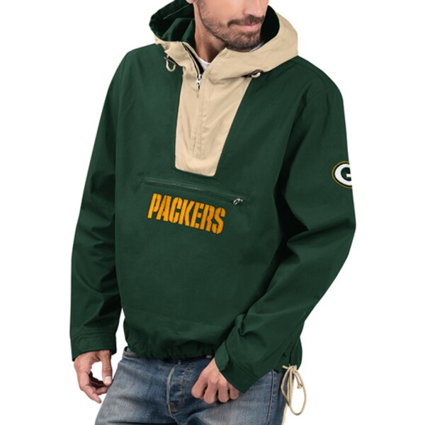 NFL パッカーズ ジャケット/アウター エクスペディション アノラック ハーフ ジップ プルオーバー G-III グリーン カーキ