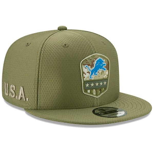 NFL ライオンズ キャップ/帽子 2019 サルート トゥ サービス サイドライン 9FIFTY ニューエラ/New Era オリーブ
