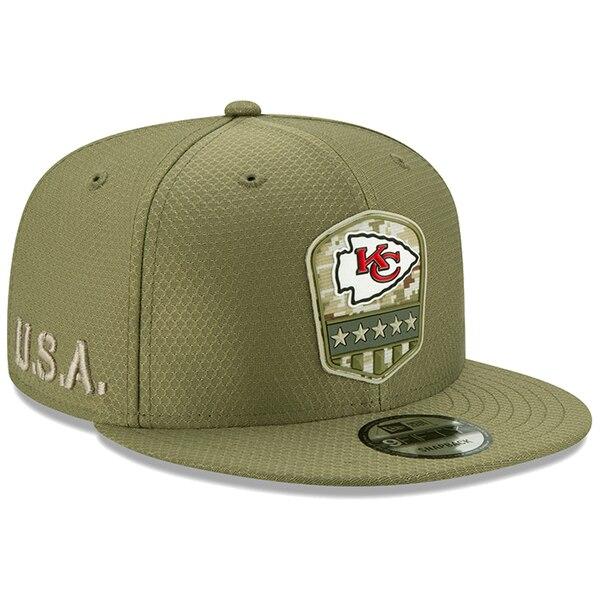 NFL チーフス キャップ/帽子 2019 サルート トゥ サービス サイドライン 9FIFTY ニューエラ/New Era オリーブ
