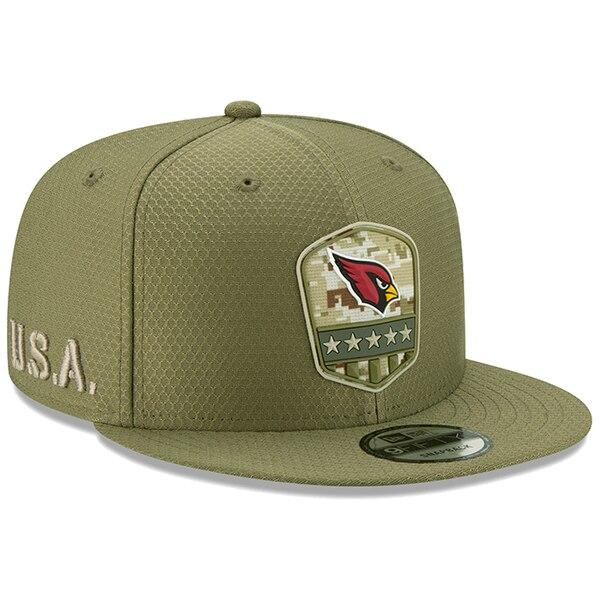 NFL カーディナルス キャップ/帽子 2019 サルート トゥ サービス サイドライン 9FIFTY ニューエラ/New Era オリーブ