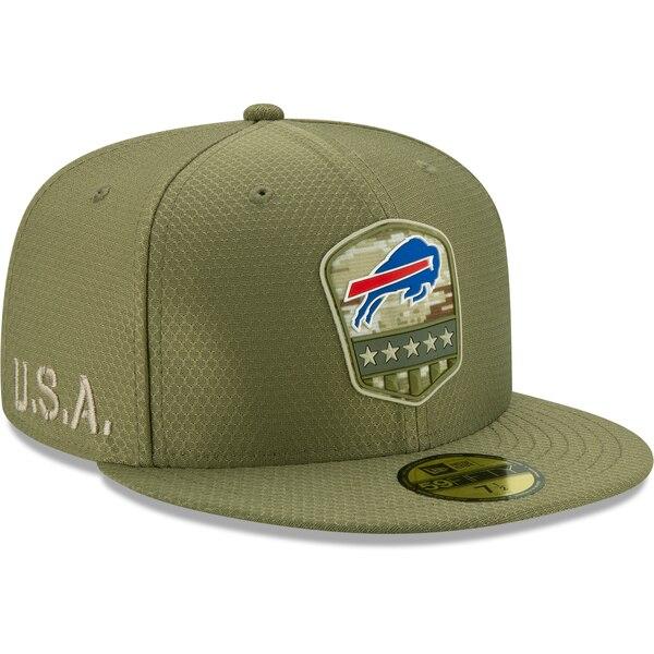 NFL ビルズ キャップ/帽子 2019 サルート トゥ サービス サイドライン 59FIFTY ニューエラ/New Era オリーブ