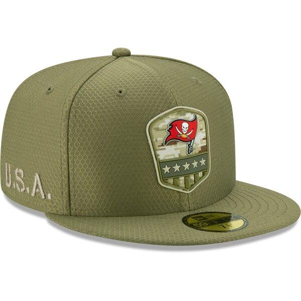 NFL バッカニアーズ キャップ/帽子 2019 サルート トゥ サービス サイドライン 59FIFTY ニューエラ/New Era オリーブ