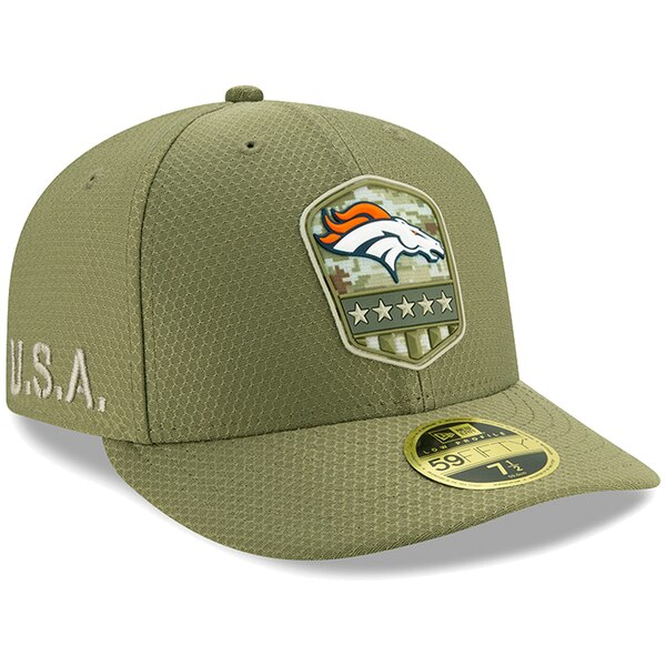 NFL ブロンコス キャップ/帽子 2019 サルート トゥ サービス サイドライン ロープロファイル 59FIFTY ニューエラ/New Era オリーブ