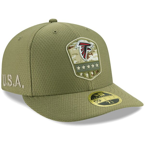 NFL ファルコンズ キャップ/帽子 2019 サルート トゥ サービス サイドライン ロープロファイル 59FIFTY ニューエラ/New Era オリーブ