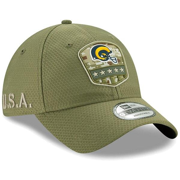 NFL ラムズ キャップ/帽子 2019 サルート トゥ サービス サイドライン 9TWENTY ニューエラ/New Era オリーブ【1911NFL変更】