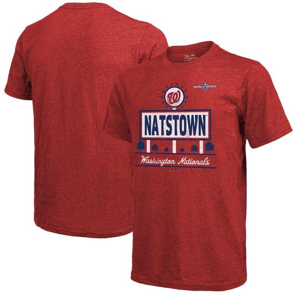 ワールドシリーズ進出 MLB ワシントン・ナショナルズ Tシャツ 2019 ワールドシリーズ ホームタウン マジェスティック/Majestic【1112】