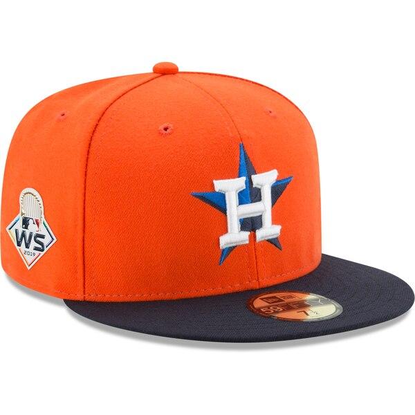 ワールドシリーズ進出 MLB ヒューストン・アストロズ キャップ 帽子 2019 ワールドシリーズ サイドパッチ 59FIFTY ニューエラ/New Era オルタネート