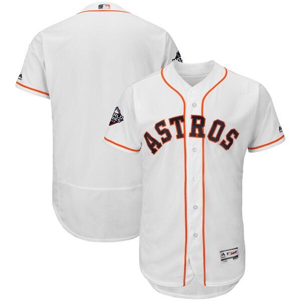ワールドシリーズ進出 MLB ヒューストン・アストロズ ユニフォーム 2019 ワールドシリーズ 選手着用モデル マジェスティック/Majestic ホワイト