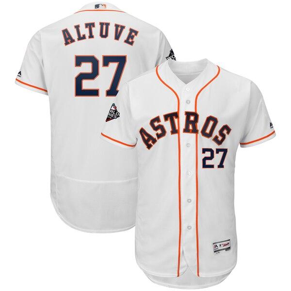 ワールドシリーズ進出 MLB ホセ・アルテューベ ヒューストン・アストロズ ユニフォーム 2019 ワールドシリーズ 選手着用モデル マジェスティック/Majestic
