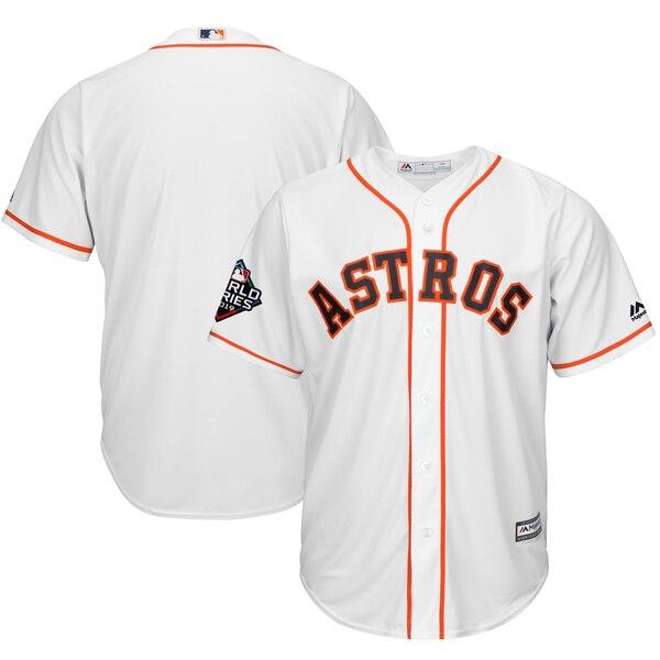 ワールドシリーズ進出 MLB ヒューストン・アストロズ ユニフォーム 2019 ワールドシリーズ レプリカ マジェスティック/Majestic ホワイト