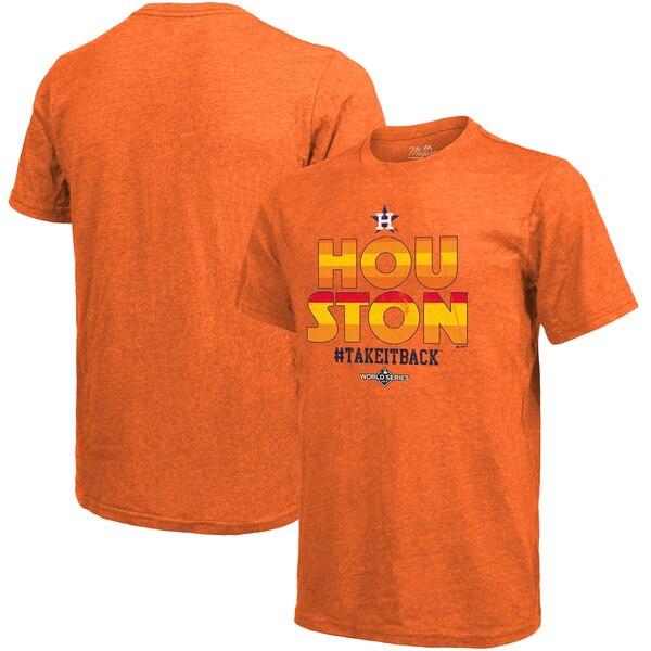 ワールドシリーズ進出 MLB ヒューストン・アストロズ Tシャツ 2019 ワールドシリーズ ホームタウン マジェスティック/Majestic オレンジ
