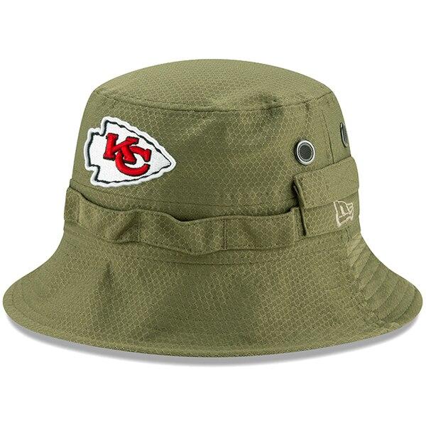 NFL チーフス キャップ/帽子 2019 サルート トゥ サービス サイドライン アドベンチャー バケット ハット ニューエラ/New Era