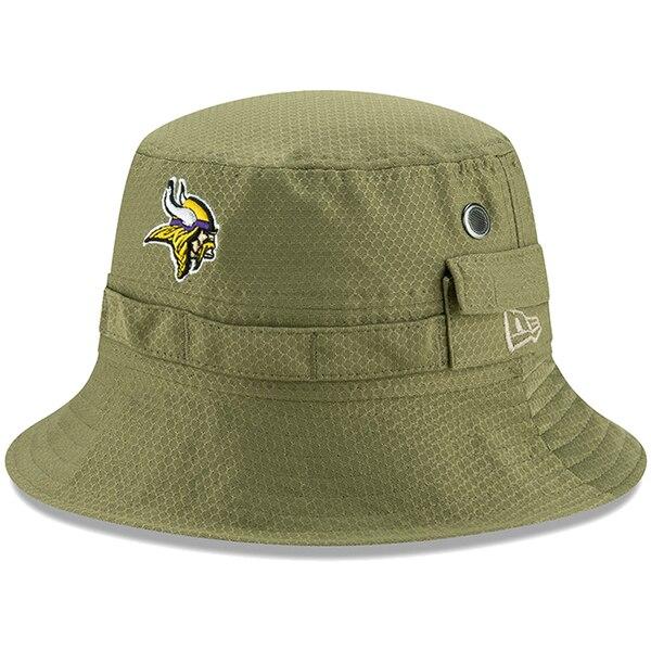 NFL バイキングス キャップ/帽子 2019 サルート トゥ サービス サイドライン アドベンチャー バケット ハット ニューエラ/New Era