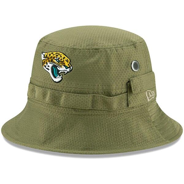 NFL ジャガーズ キャップ/帽子 2019 サルート トゥ サービス サイドライン アドベンチャー バケット ハット ニューエラ/New Era