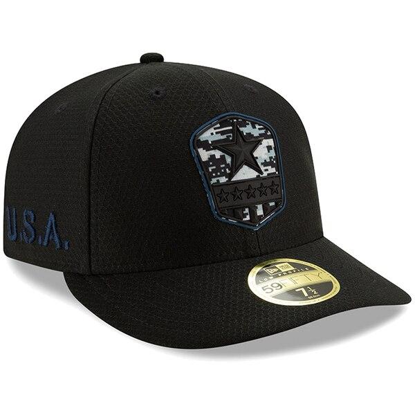 NFL カウボーイズ キャップ/帽子 2019 サルート トゥ サービス ロープロファイル 59FIFTY ニューエラ/New Era ブラック
