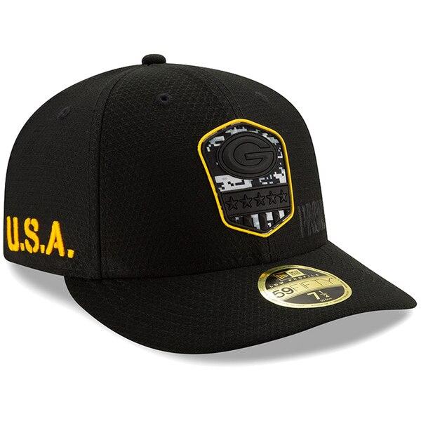 NFL パッカーズ キャップ/帽子 2019 サルート トゥ サービス ロープロファイル 59FIFTY ニューエラ/New Era ブラック