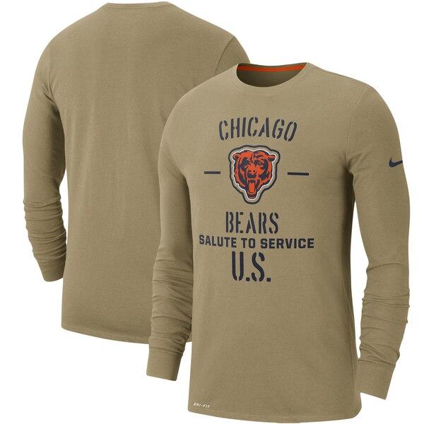 NFL ベアーズ Tシャツ 2019 サルート トゥ サービス サイドライン パフォーマンス ロング スリーブ ナイキ/Nike タン
