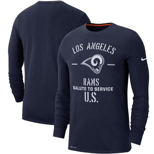 NFL ラムズ Tシャツ 2019 サルート トゥ サービス サイドライン パフォーマンス ロング スリーブ ナイキ/Nike ネイビー【1911NFL変更】