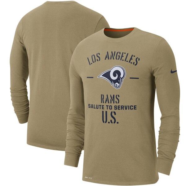 NFL ラムズ Tシャツ 2019 サルート トゥ サービス サイドライン パフォーマンス ロング スリーブ ナイキ/Nike タン