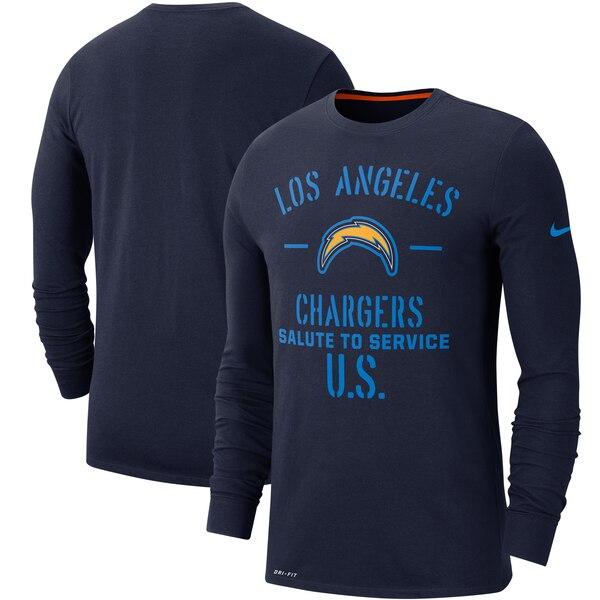 NFL チャージャース Tシャツ 2019 サルート トゥ サービス サイドライン パフォーマンス ロング スリーブ ナイキ/Nike ネイビー【1911NFL変更】
