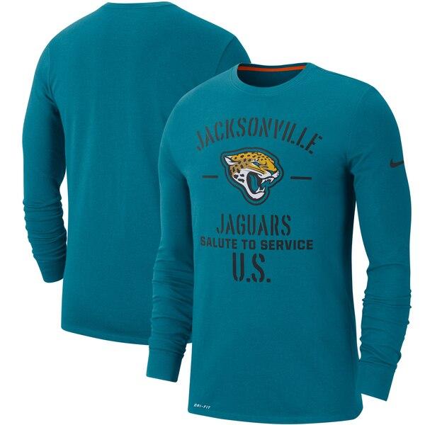 NFL ジャガーズ Tシャツ 2019 サルート トゥ サービス サイドライン パフォーマンス ロング スリーブ ナイキ/Nike ティール