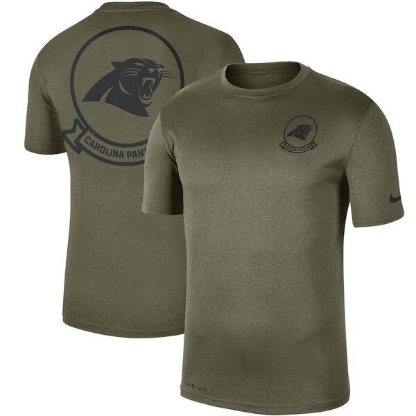 NFL パンサーズ Tシャツ 2019 サルート トゥ サービス サイドライン シール レジェンド パフォーマンス ナイキ/Nike オリーブ