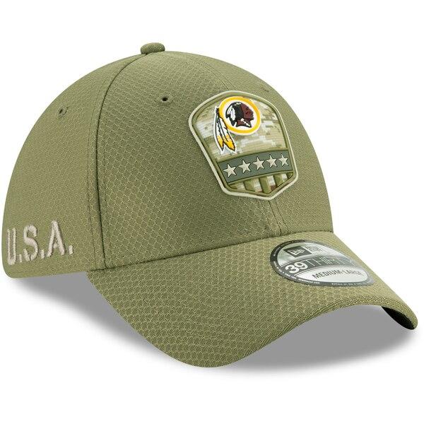 NFL レッドスキンズ キャップ/帽子 2019 サルート トゥ サービス サイドライン 39THIRTY ニューエラ/New Era オリーブ【191028変更】