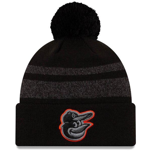 MLB ボルティモア・オリオールズ ニットキャップ/ニット帽 ディスパッチ カフド ハット ウィズ ポム ニューエラ/New Era ブラック
