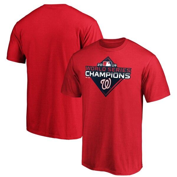 MLB ワシントン・ナショナルズ Tシャツ 2019 ワールドシリーズ 優勝記念 ロゴ マジェスティック/Majestic レッド【1112】