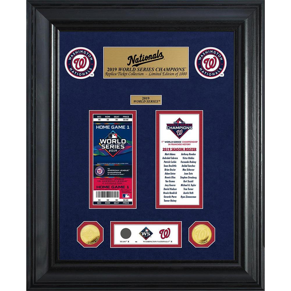 MLB ナショナルズ 1-Time ワールドシリーズ 優勝 ゴールドコイン チケット コレクション The Highland Mint ゴールド