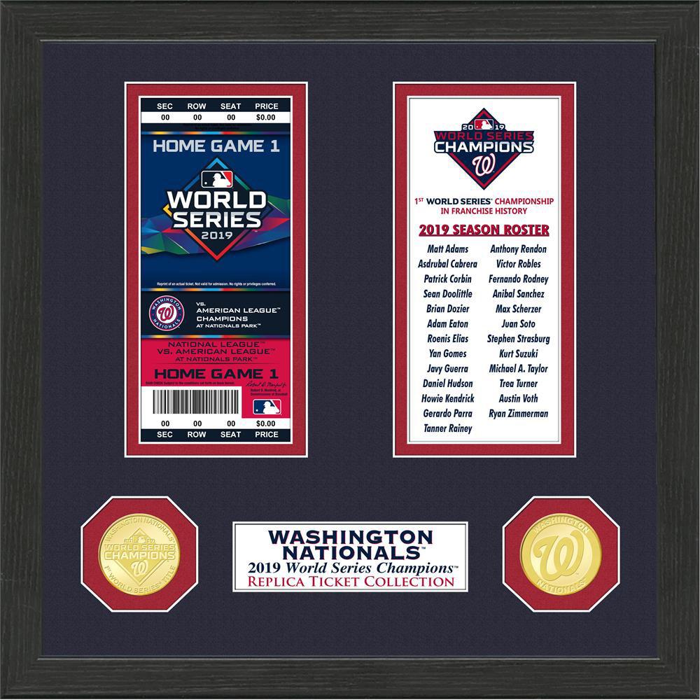 MLB ナショナルズ 1-Time ワールドシリーズ 優勝 チケット コレクション The Highland Mint Ticket