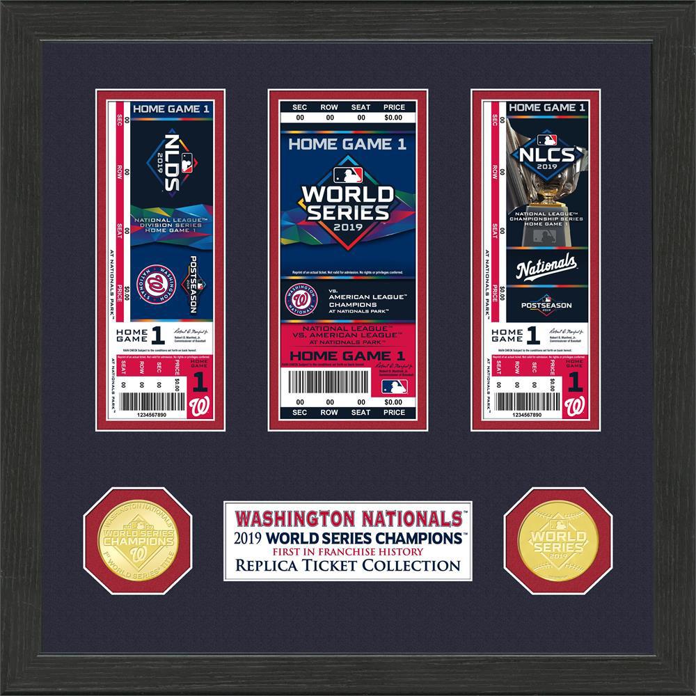 MLB ナショナルズ 2019 ワールドシリーズ 優勝 コレクション The Highland Mint Ticket