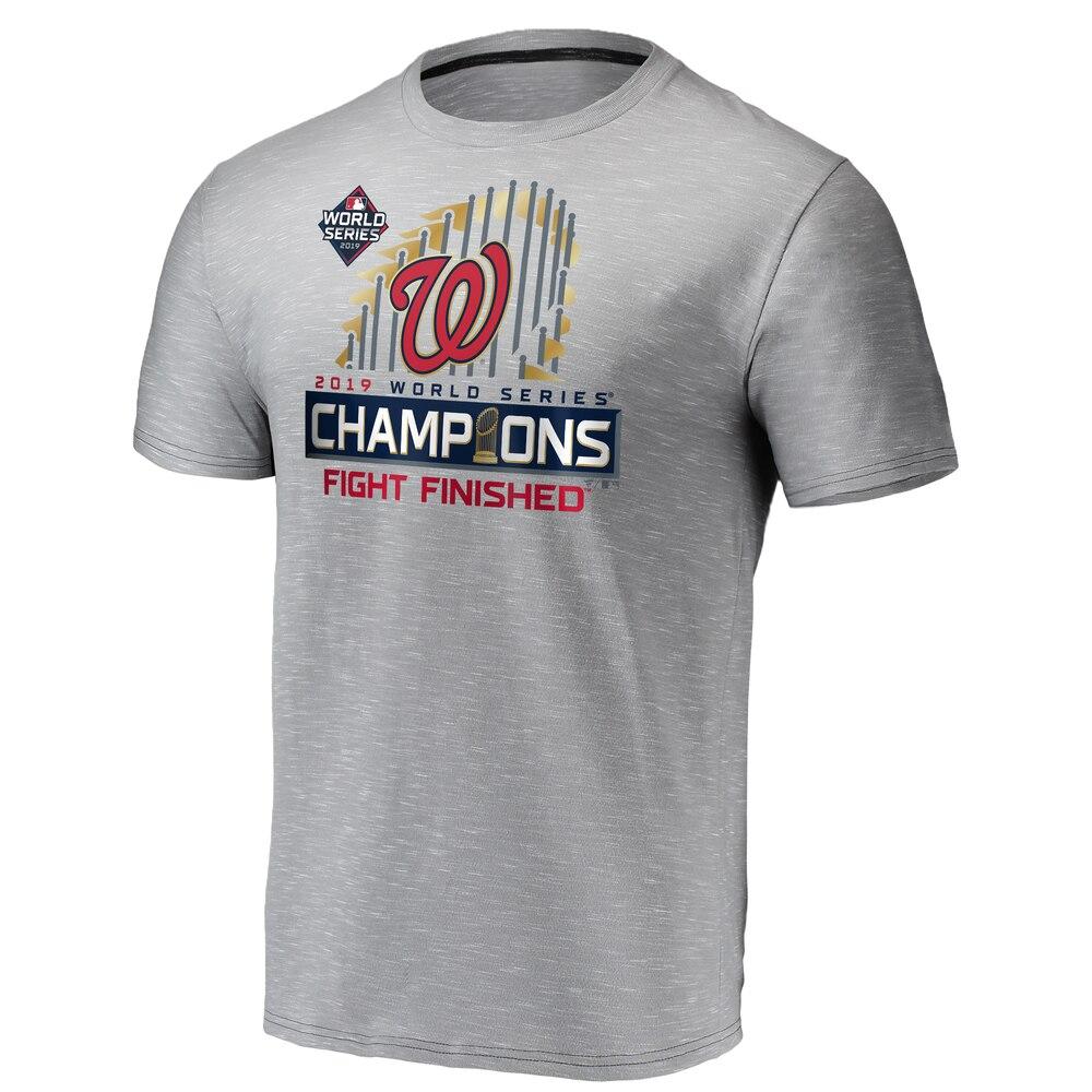 MLB ナショナルズ Tシャツ ワールドシリーズ 2019 優勝記念 選手着用 ロッカールーム グレー