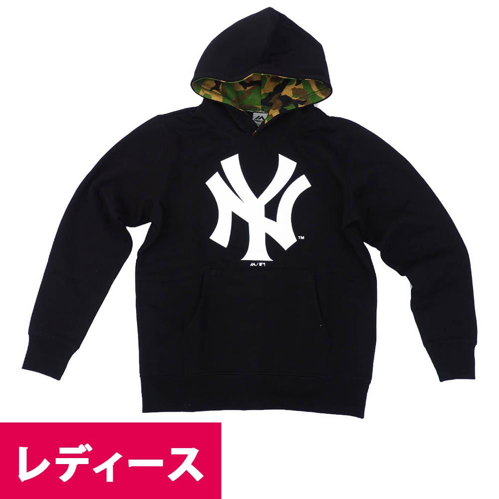 MLB パーカー ニューヨーク・ヤンキース フーディー ロゴ マジェスティック/Majestic ブラック【MLB1911p】