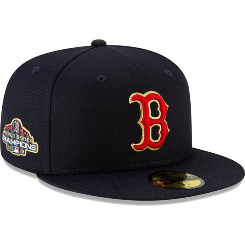 ボストン・レッド ソックス MLB 2018 ワールドシリーズ 優勝記念 ゴールドプログラム ネイビー