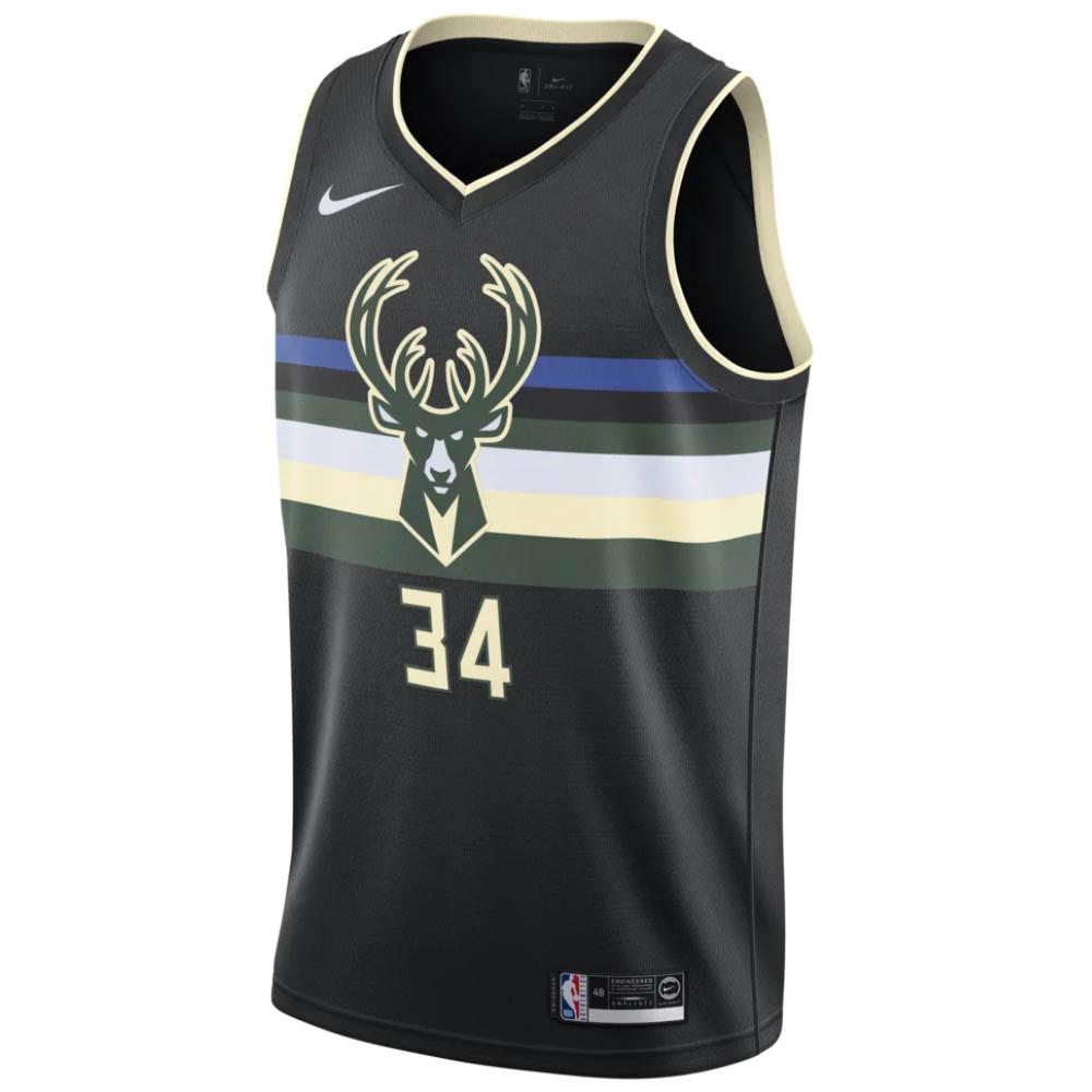 NBA ヤニス・アデトクンボ ミルウォーキー・バックス ユニフォーム/ジャージ スウィングマン ナイキ/Nike ブラック AT9806-011【NIKEJP】