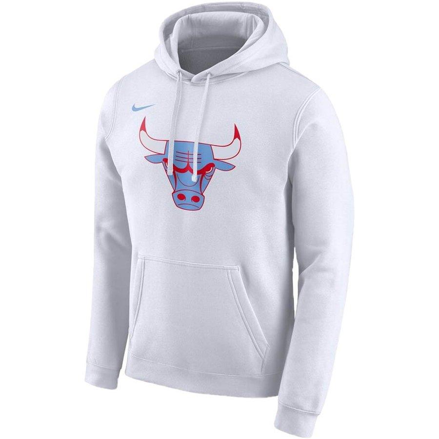 あす楽対応 人気アイテムのNIKE NBA アパレル シカゴ ブルズ ついに再販開始 パーカー フーディー ロゴ CD3221-100 期間限定で特別価格 CE フリース プルオーバー ナイキ Nike ホワイト